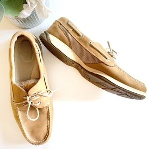 Sperry Top Sider Leather Boat Shoes Size 10